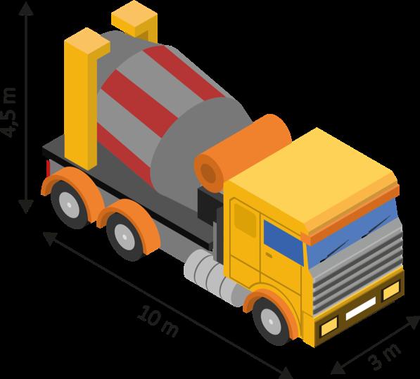 Caractéristiques et dimensions du camion toupie
